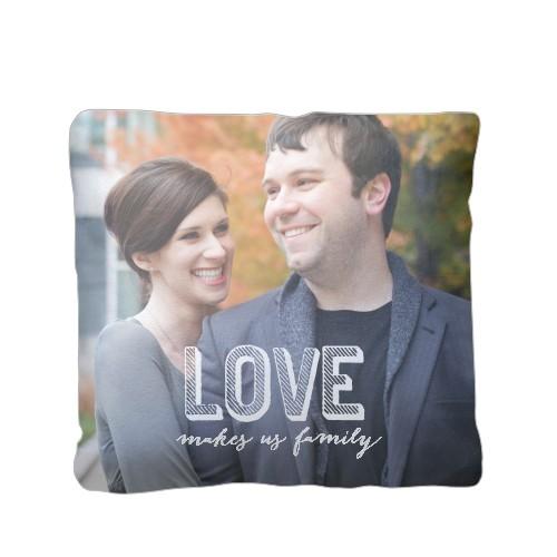 Love Makes Family Pillow, Plush, Pillow (Plush), 16 x 16, Single-sided, White
