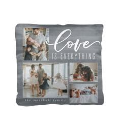 love organic watercolor pillow