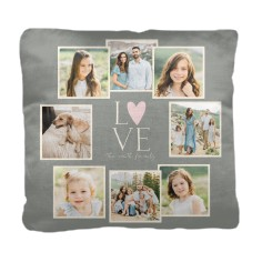 love all around collage pillow