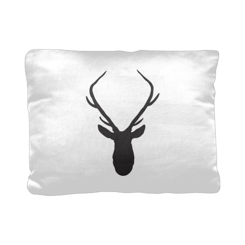 Deer Silhouette Pillow, Cotton Weave, Pillow, 12 x 16, Double-sided, White