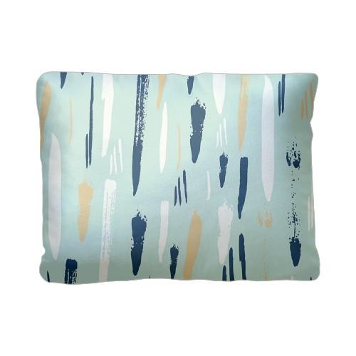 Paint Splatter Pillow, Plush, Pillow (Plush), 12 x 16, Single-sided, White