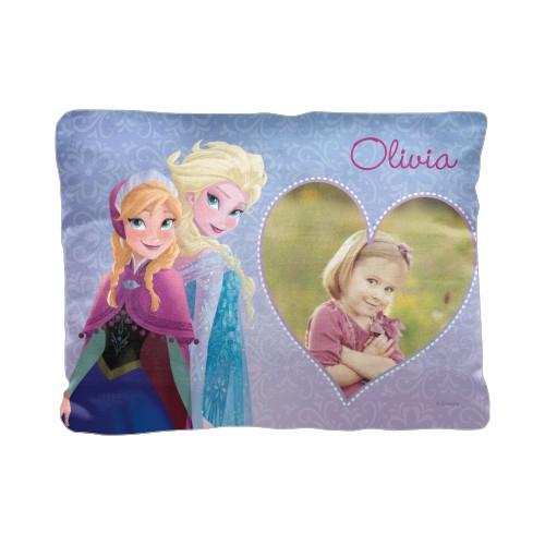 Disney Frozen Anna And Elsa Pillow, Cotton Weave, Pillow, 12 x 16, Double-sided, Purple