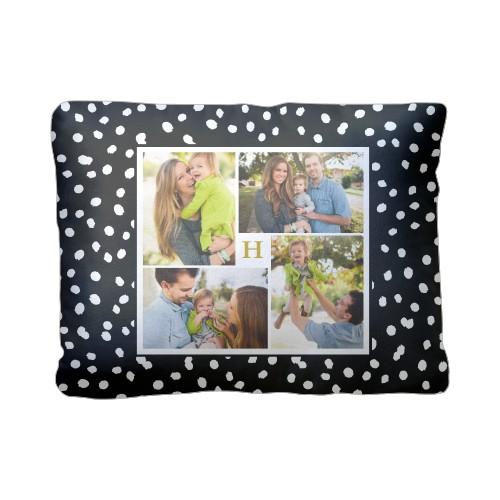 Organic Dot Collage Pillow, Sherpa, Pillow (Sherpa), 12 x 16, Single-sided, Black