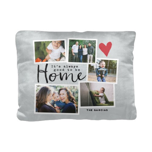 Good To Be Home Pillow, Cotton Weave, Pillow, 12 x 16, Double-sided, Grey