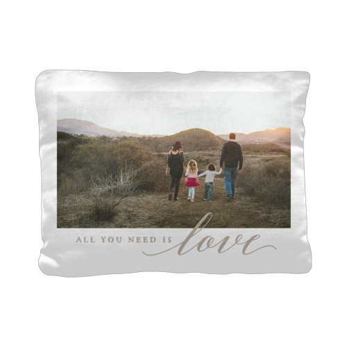 All You Need is Love Pillow, Cotton Weave, Pillow, 12 x 16, Double-sided, White