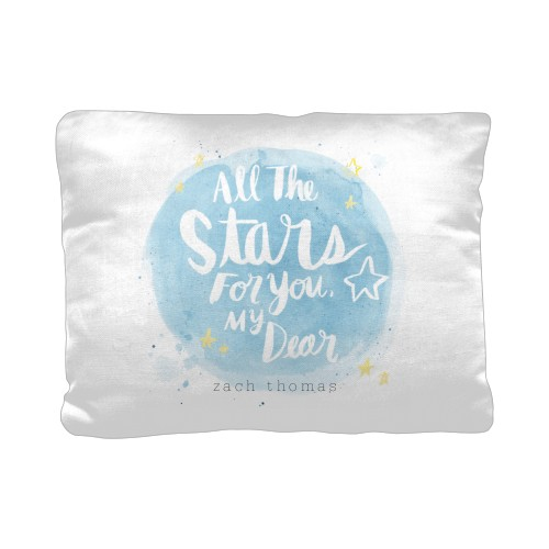 Moon And Stars For You Pillow, Cotton Weave, Pillow (Ivory), 12 x 16, Single-sided, Grey