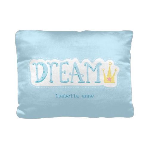Princess Dream Pillow, Cotton Weave, Pillow (Ivory), 12 x 16, Single-sided, Blue