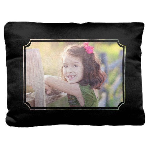 Hand-Drawn Frame Pillow, Cotton Weave, Pillow (Black), 18 x 24, Single-sided, DynamicColor