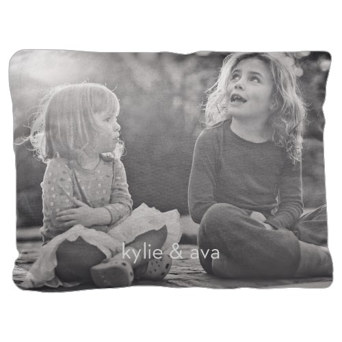 Photo Gallery Pillow, Cotton Weave, Pillow (Black), 18 x 24, Single-sided, White