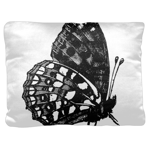 Butterfly Pillow, Cotton Weave, Pillow (Ivory), 18 x 24, Single-sided, White