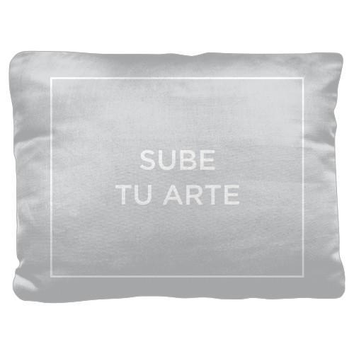 Sube Tu Arte Pillow, Cotton Weave, Pillow (Ivory), 18 x 24, Single-sided, Multicolor