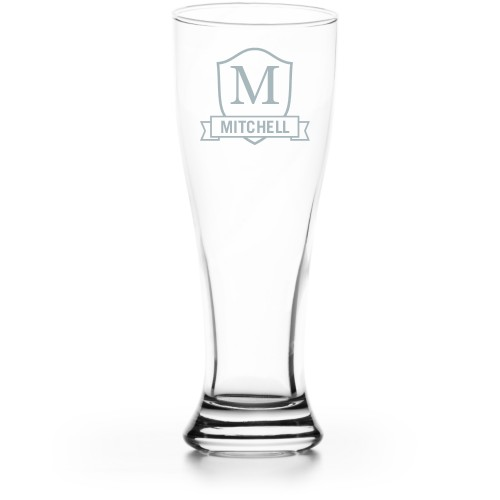 Plaque and Banner Pilsner Glass, Glass, Pilsner Glass Double Side, Clear Glass, White