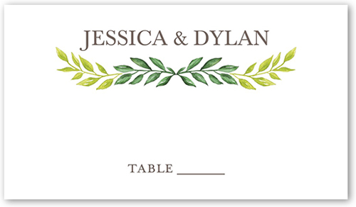 Gleeful Garden Wedding Place Card