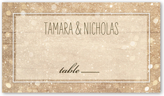 sparkly lights - Table Place Cards