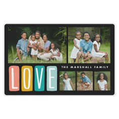 colorful love placemat