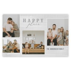 contemporary happy place collage placemat