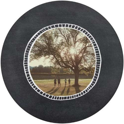 Rustic Chalk Frame Plate, 10x10 Plate, Grey