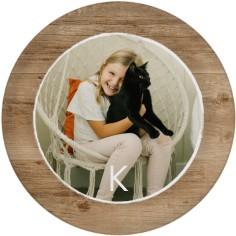 rustic wood memories plate