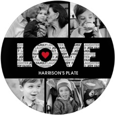 love in a word plate