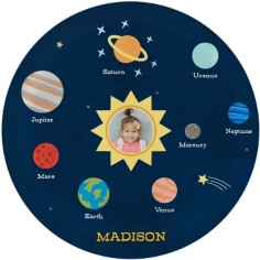 moon and stars planets plate
