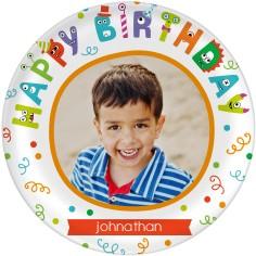 birthday confetti plate