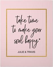 happy soul quote premium poster