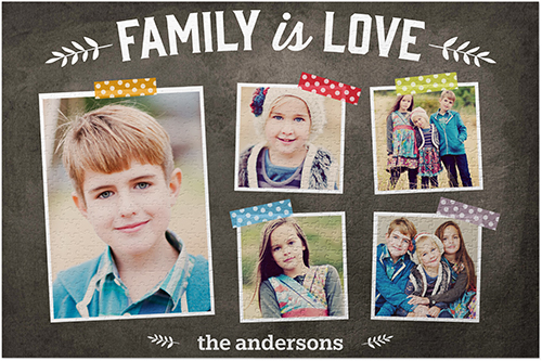 Family Is Love Puzzle, puzzle_1014, Grey