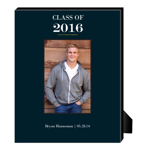 Classic Grad Personalized Frame, - No photo insert, 8 x 10 Personalized Frame, Black