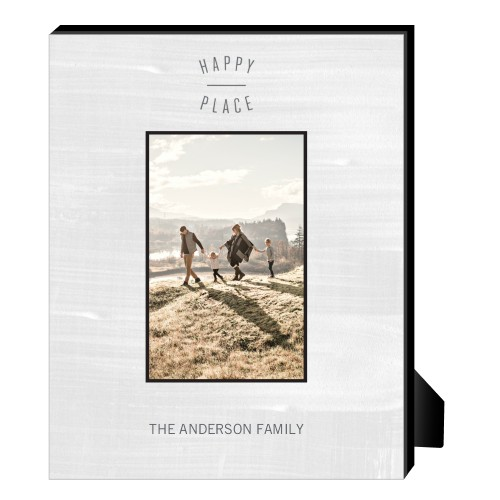 Happy Place Personalized Frame, - Photo insert, 8 x 10 Personalized Frame, White