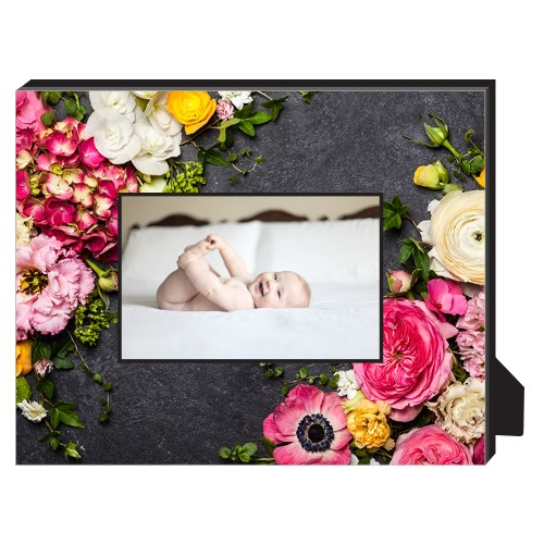 Photo Real Floral Personalized Frame, - No photo insert, 8 x 10 Personalized Frame, Multicolor