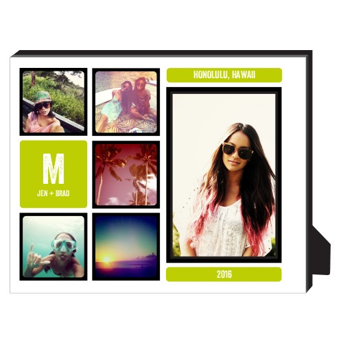 Pictogram Personalized Frame, - No photo insert, 8 x 10 Personalized Frame, Black