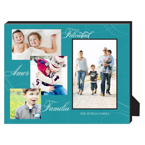 Felicidad Amor Familia Personalized Frame, - Photo insert, 8 x 10 Personalized Frame, Blue