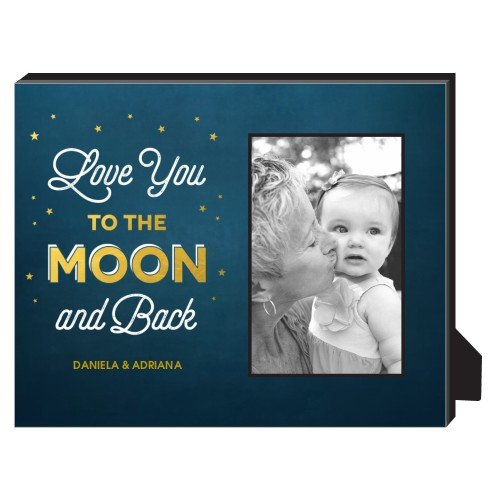 love you to the moon personalized frame