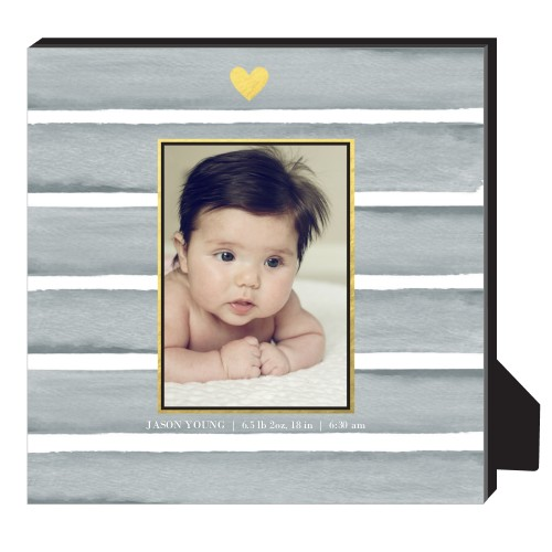 Heart Of Gold Personalized Frame, - Photo insert, 11.5 x 11.5 Personalized Frame, Grey