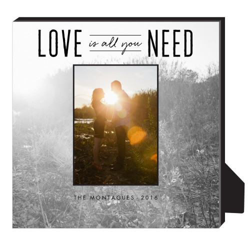 Love Is All We Need Personalized Frame, - Photo insert, 11.5 x 11.5 Personalized Frame, White