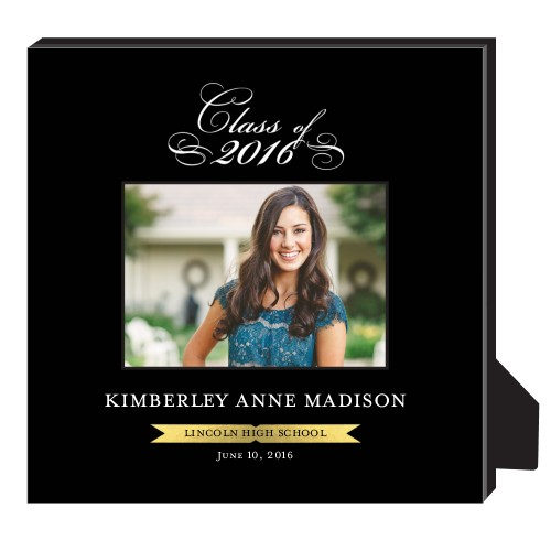 Elegant Class Frame Personalized Frame, - No photo insert, 11.5 x 11.5 Personalized Frame, Black