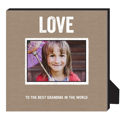 Textured Frames Personalized Frame, - No photo insert, 11.5 x 11.5 Personalized Frame, Brown