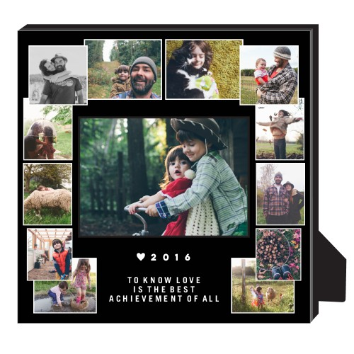 Artisanal Collage Personalized Frame, - No photo insert, 11.5 x 11.5 Personalized Frame, Black