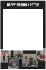 gallery collage of five selfie frame