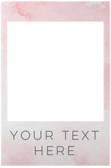 your text here selfie frame