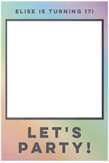 rainbow chalkboard selfie frame