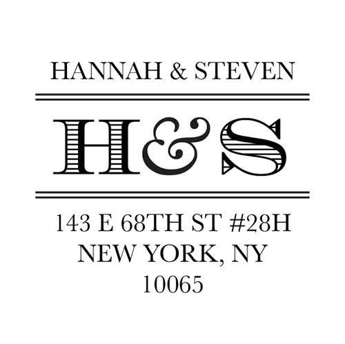 Perfect Initials Self-Inking Rubber Stamps