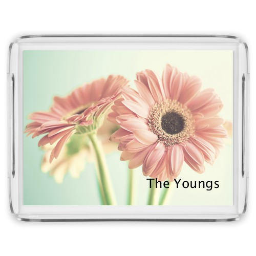 Gerber Daisy Serving Tray, 17x13 Inches, Multicolor