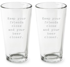 open quote pint glass