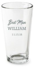 groom party set pint glass