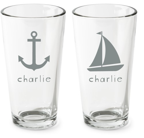 Nautical Set Pint Glass