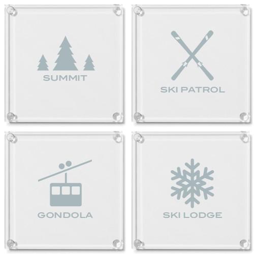 Mountain Home Glass Coaster