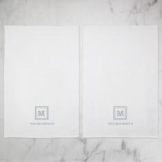 keyline monogram tea towel