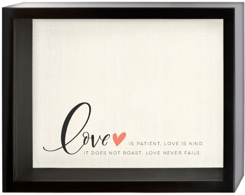 Love Quote Shadow Box, Black, 11 x 14 inches, DynamicColor