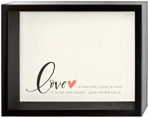 Love Quote Shadow Box, Black, 11 x 14 inches, Black